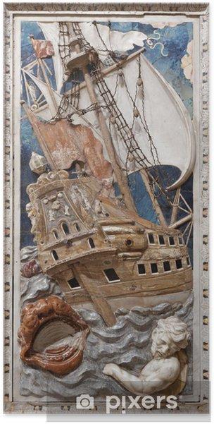 Poster Relief baroque de scène de prophète Jonas - Palerme - Europe