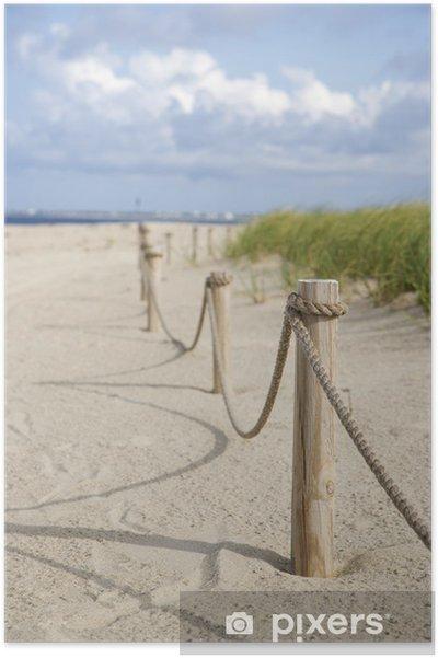 Splitter nya Poster Rep staket på stranden. • Pixers® - Vi lever för förändring QG-86