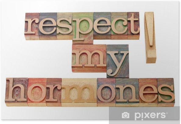 Poster Respecter mes hormones - Signes et symboles