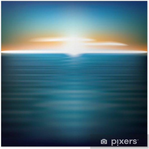 Poster Résumé de fond avec le lever du soleil mer - Océanie