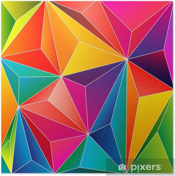Poster Résumé de fond avec relief coloré - Vente