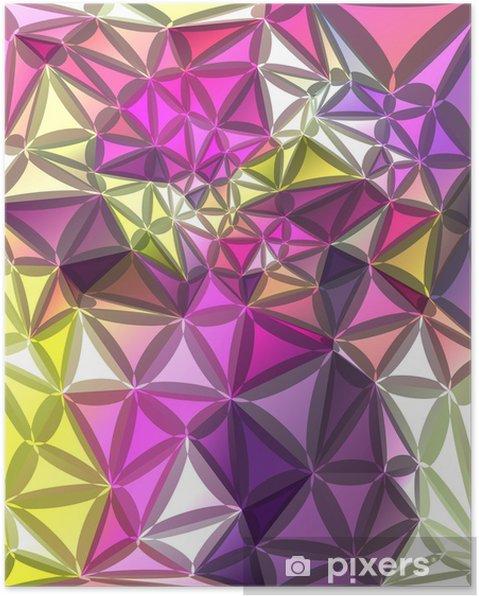 Poster Résumé fond géométrique - Thèmes