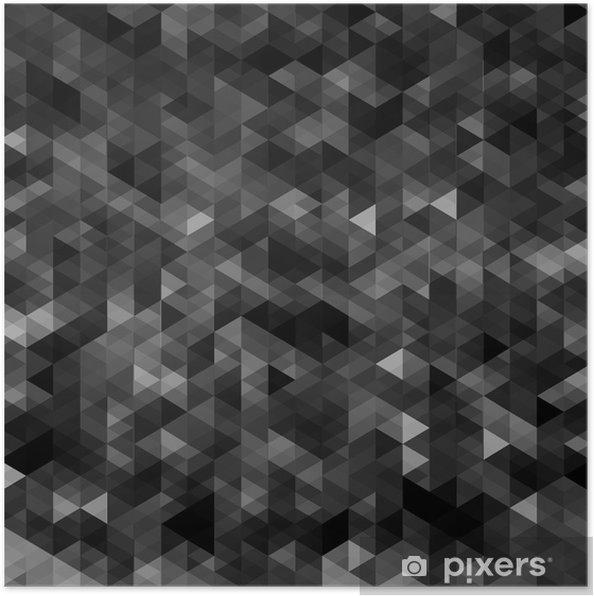 Poster Résumé triangulaire fond noir mosaïque - Arrière plans