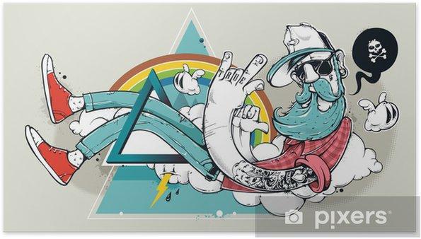 Póster Resumen de graffiti inconformista - Hobbies y entretenimiento