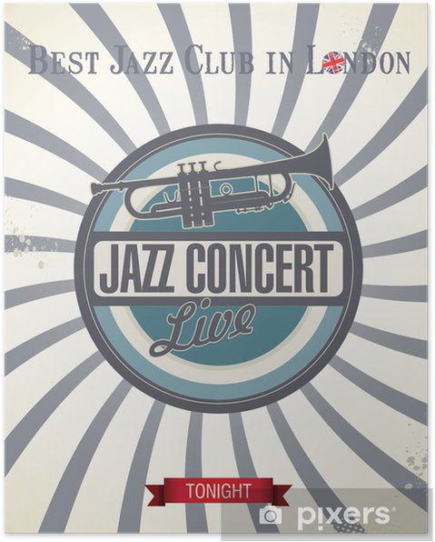 Poster Rétro affiche de Jazz de concert - Arrière plans