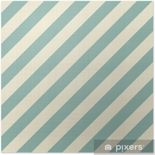 Poster Retro naadloze geometrische patroon - Achtergrond