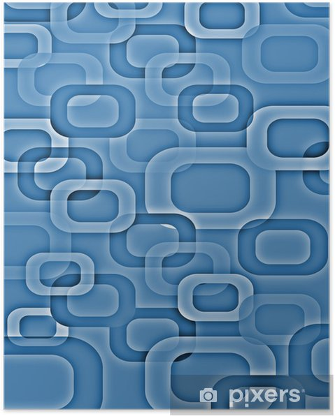Retro Stil Background 70s Blue Poster Pixers We Live To Change