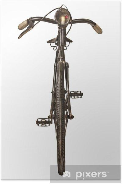 Poster Retro style image d'une bicyclette du XIXe siècle - Sur la route