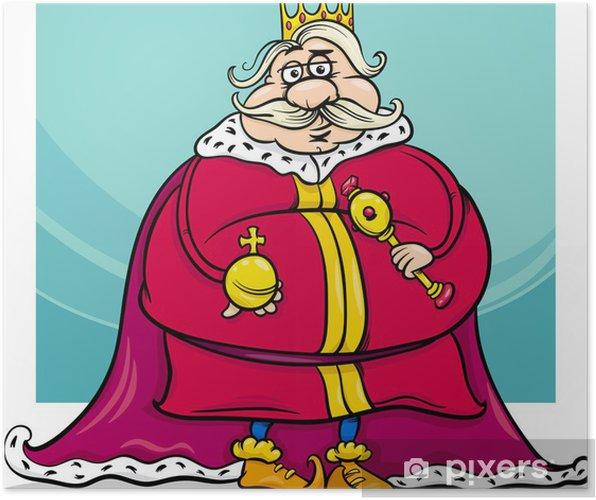 Póster Rey Gordo Personaje De Fantasía De Dibujos Animados