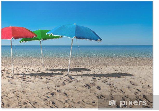 Poster Rgb notion parapluie - Vacances