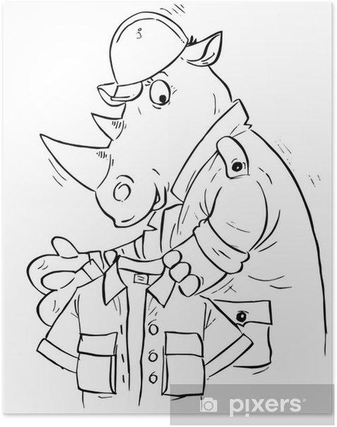 Poster Rhino constructeur -