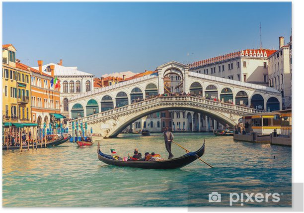 Poster Rialto brug in Venetië - Thema's