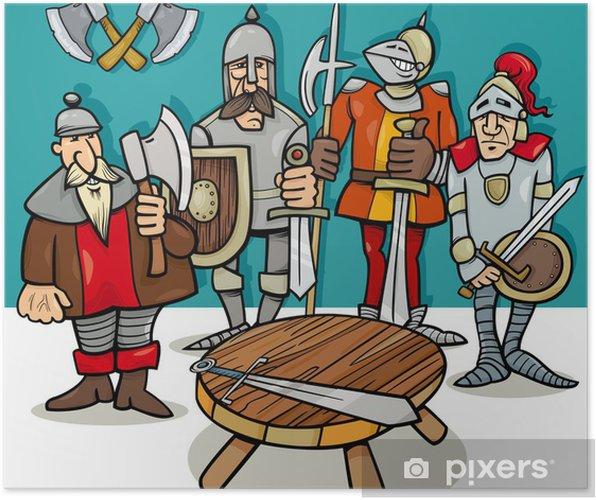 Ridders Aan De Ronde Tafel.Poster Ridders Van De Ronde Tafel Cartoon