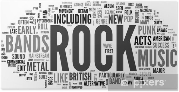 Poster Rock and roll - Muziek - Rock