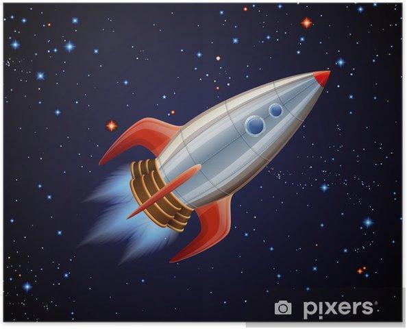 Póster Rocket en espacio - iStaging 2