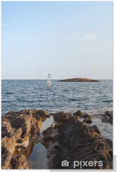 rocks by the sea Poster - Holidays