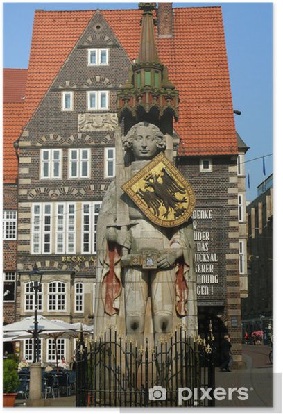 Poster Roland à Brême - Liberté