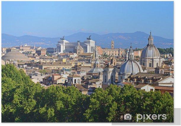Roma Vista Dalla Terrazza Dell Angelo Poster