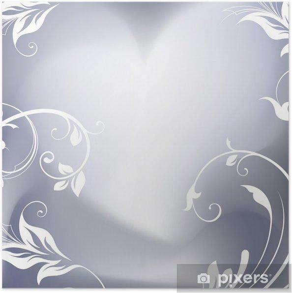 Poster Romantic background - Bonheur