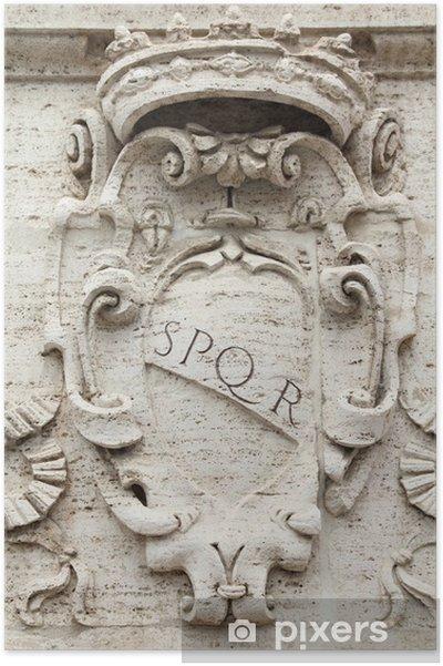 Poster Rome SPQR - Villes européennes