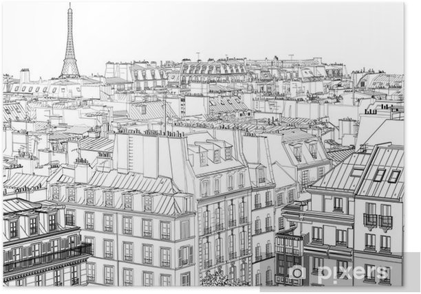 roofs in Paris Poster - Styles