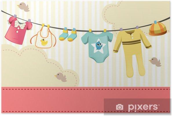 Póster Ropas para bebés - Moda