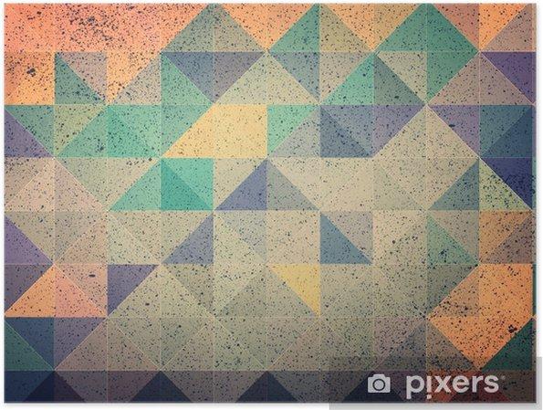Poster Rose et violet triangle abstrait illustration - Ressources graphiques