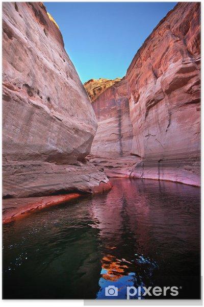 Poster Rose fente d'antilope, Reflet, Lac Powell Arizona - Amérique