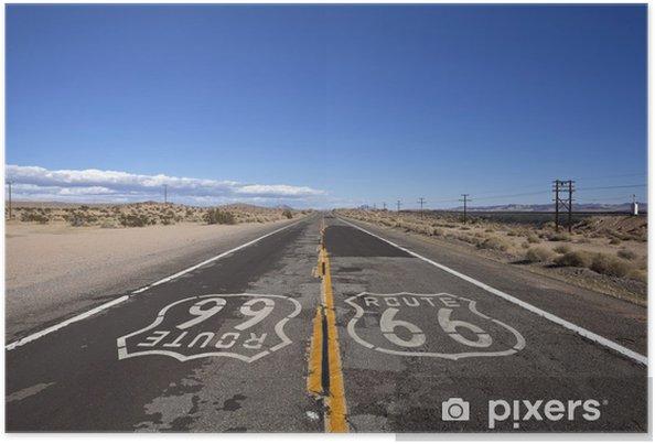 Poster Route 66 Mojave Desert - Thema's