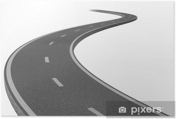 Poster Route vers une destination - Sur la route