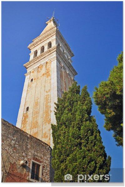 Poster Rovigno, Rovinj, - Croazia, Chiesa di Santa Eufemia - Europe