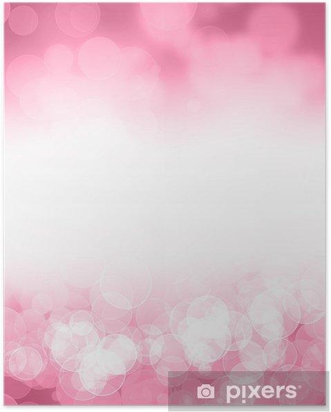 Poster Roze glitter achtergrond - Achtergrond