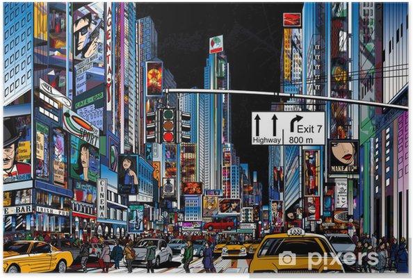 Poster Rue à New York -