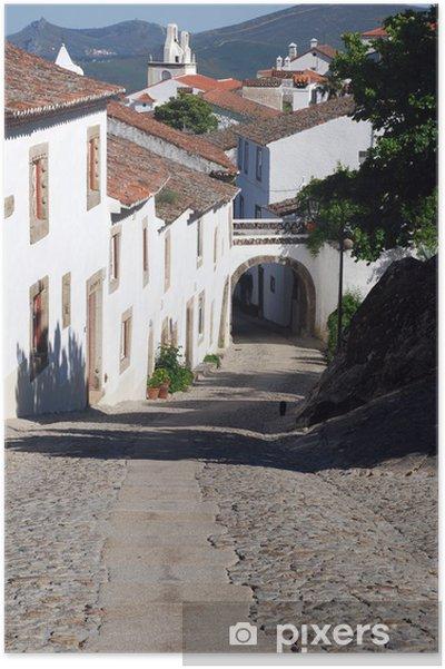 Poster Rue étroite dans le village de Marvão (Portugal) - Europe