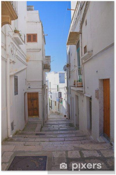 Poster Ruelle. Castellaneta. Puglia. Italie. - Thèmes