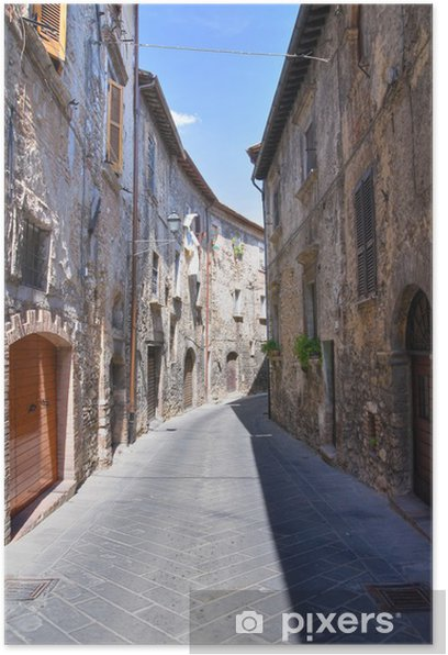 Poster Ruelle. Narni. Ombrie. Italie. - Thèmes