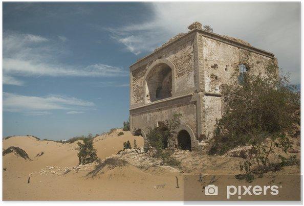 Poster Ruine eines alten Forts, Diabat, Maroc - Monuments