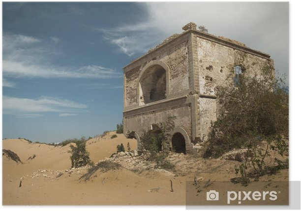 Poster Ruine eines alten Forts, Diabat, Marokko - Monumenten