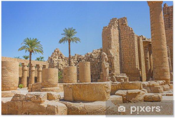 Poster Ruines antiques du temple de Karnak en Égypte - Afrique