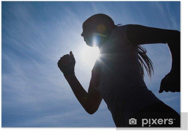 runner silhouette Poster - Themes