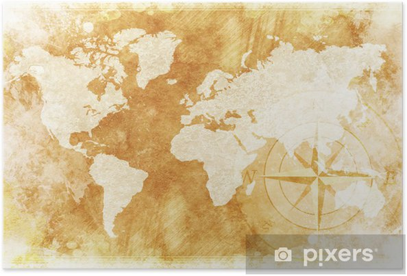 Rustic World Map Poster Pixers We Live To Change