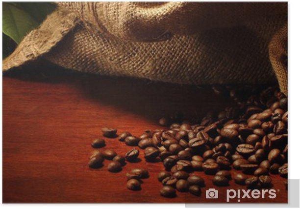 sacchetti con chicchi di caffè Poster - Themes