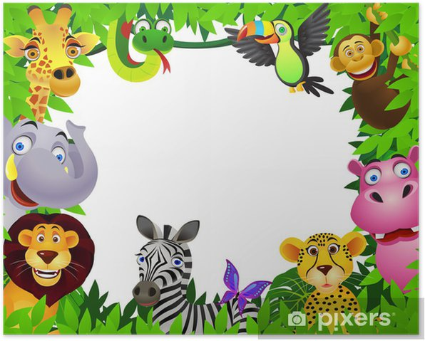 Safari Animal Cartoon Poster Pixers 174 We Live To Change