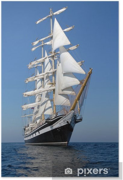Sailing ship. series of ships and yachts Poster - iStaging