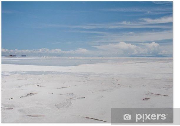 Poster Salar de Uyuni, en Bolivie Salt flat - Amérique