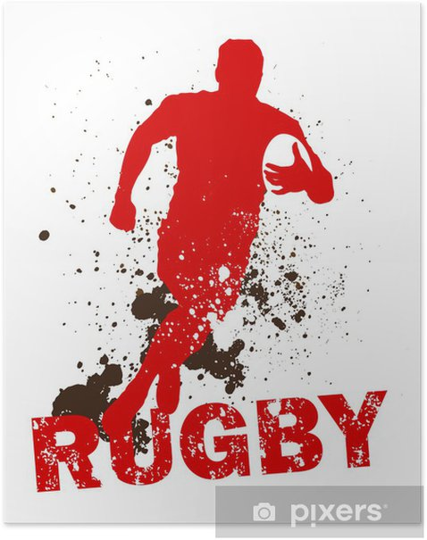 Poster Sale joueur de rugby - Rugby