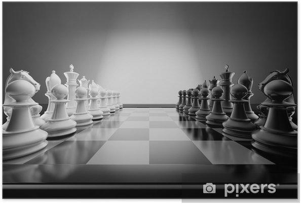 Poster Samenstelling van het schaak - Zakelijke Concepten