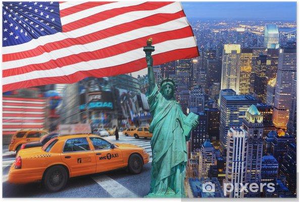 Poster Sammansättning New York. - Teman
