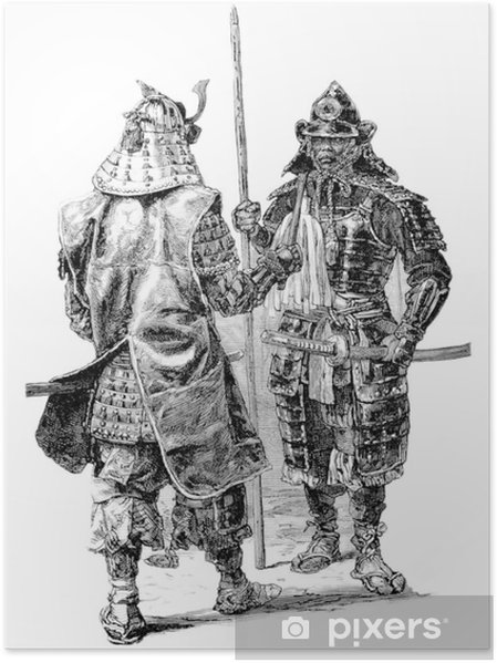 Póster Samurai - Japón - Asia