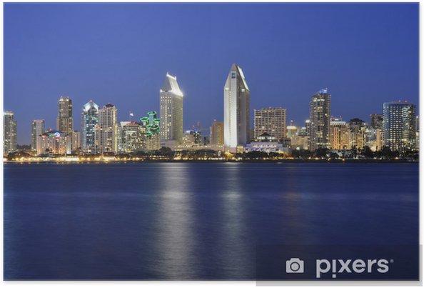 Poster San Diego la nuit - Amérique